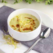Supa crema de mazare, praz si mascarpone - 350ml